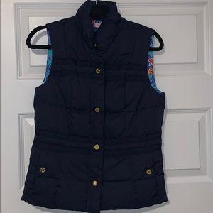 Lily Pulitzer navy reversible vest